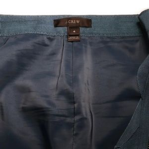 J. Crew Skirts - J.Crew Blue Assymetrical Zip Pencil Skirt Size 4